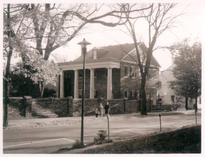 Exterior view of Bullock house at 200 Market Street, Lexington, Kentucky. Silver Print
