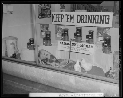 Wilson Machinery & Supply Company; 139-141 North Mill                             Street; window display for