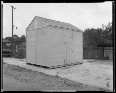 Combs Lumber Company, 439 East Main; wood storage building,                             exterior