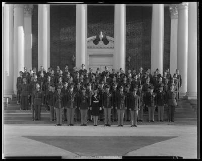 Pershing Rifles, (1943 Kentuckian) (University of Kentucky);                             Memorial Hall; exterior; group portrait