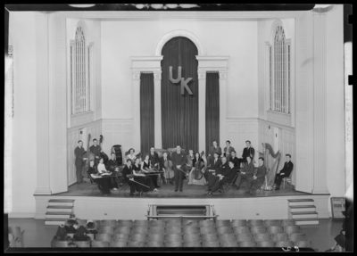 Philharmonic on stage of Memorial Hall (1943 Kentuckian)                             (University of Kentucky)