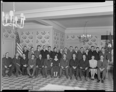 Kentucky Central Life & Accident Insurance Company,                             201-203 West Short; Lexington District; Group gathered in                             room