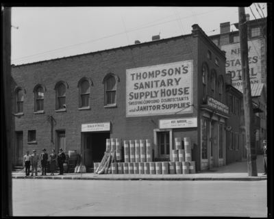Thompson Sanitary Supply House (janitorial), 137-139 Race;                             exterior front