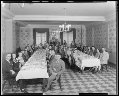 National Life & Accident Insurance Company, people                             gathered in dinning room
