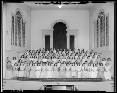 Women's Glee Club (1944 Kentuckian) (University of Kentucky);                             group gathered in Memorial Hall