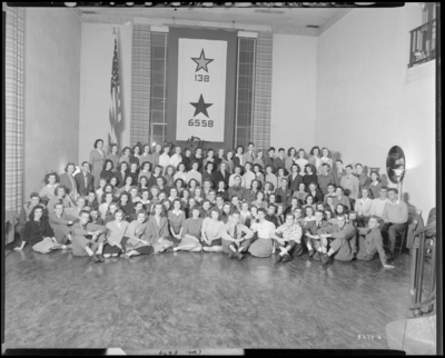 Freshman Club, University of Kentucky; Student Union Building;                             interior; group portrait