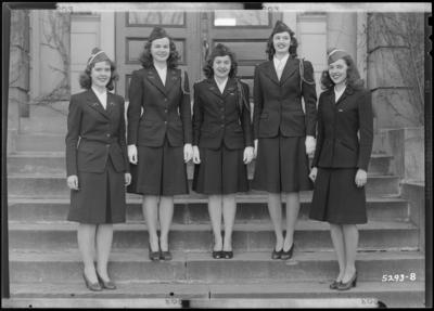 Cadets (women), University of Kentucky; Student Union Building;                             exterior; group portrait