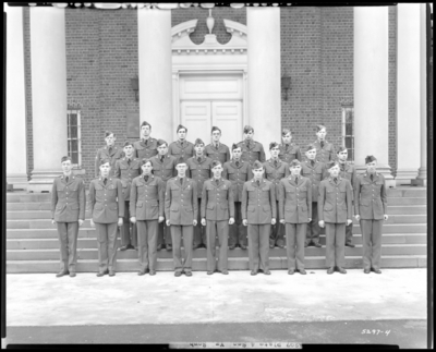 ROTC Sophomore, Military Department; University of Kentucky;                             Memorial Hall; exterior; group portrait