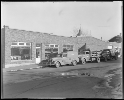 Central Welding Supplies, 431 East Vine; exterior; company trucks                             parked in front of building
