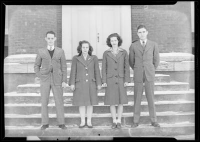 Senior Class Officers, Georgetown College; exterior; group                             portrait