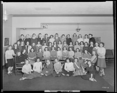 University of Kentucky; Jewell Hall; interior; group of women;                             group portrait
