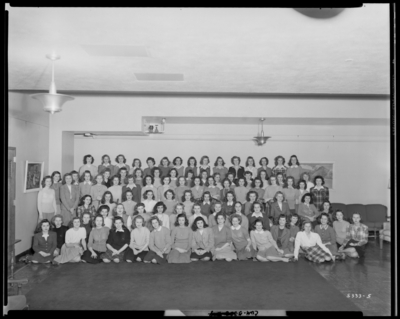 University of Kentucky; Jewell Hall; interior; group of women;                             group portrait