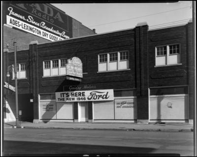 Gaidry Motor Company, 255-263 East Main; exterior of                             building