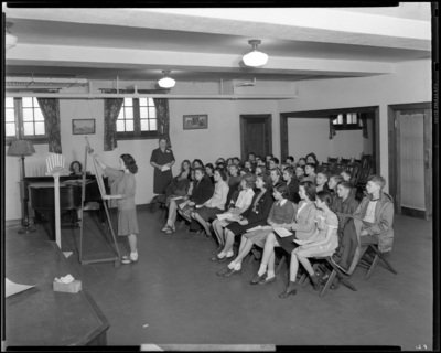 Georgetown Library; group gathered in room