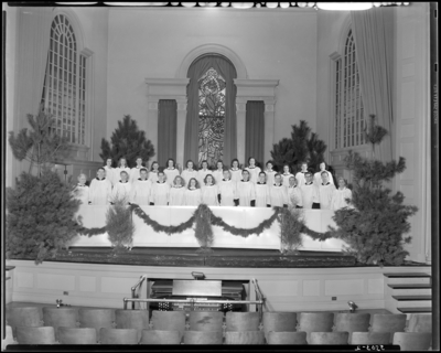 University of Kentucky Choristers; group on stage at Memorial                             Hall
