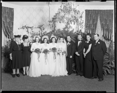 Doris Schumaker; wedding party; group