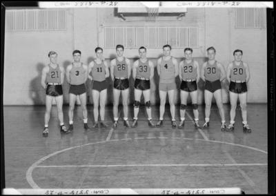 Georgetown College; Men's Basketball Club; gym (gymnasium);                             interior; group portrait