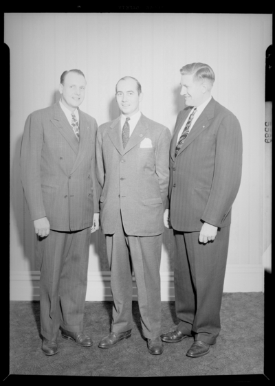 National Life & Accident Insurance Company; Phoenix                             Hotel; interior; Luncheon; three men standing together