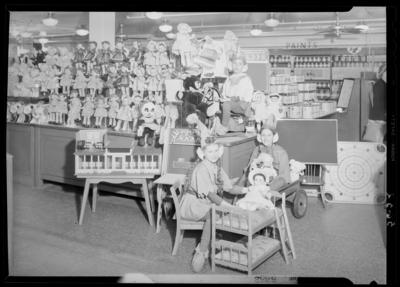 Montgomery Ward Company, 230-232 East Main; children's                             Christmas display