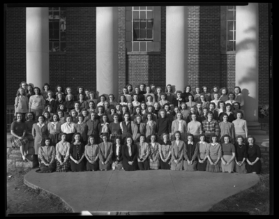 Georgetown College; Y.W.A (Young Women's Association);                             exterior; group portrait
