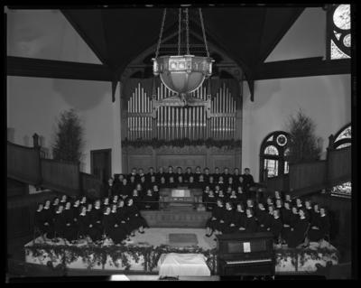 Georgetown College; Choir; interior; group portrait