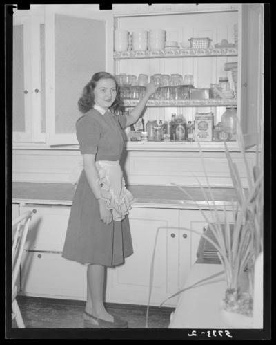 Georgetown College; girl standing in room
