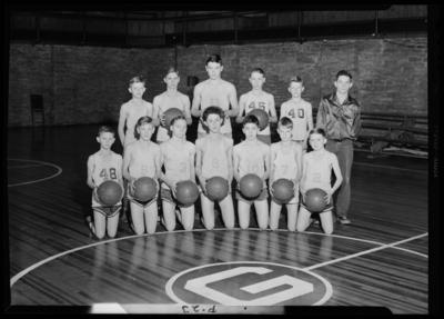 Garth High School, Georgetown; boys junior basketball                             team