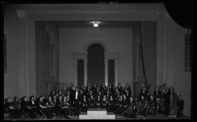Symphony Orchestra on stage of Memorial Hall