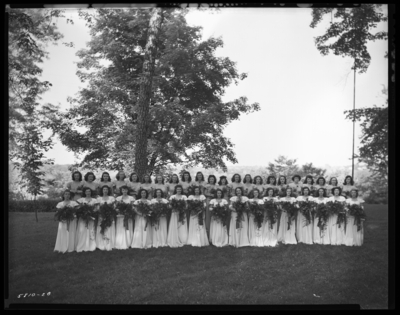 Cardome Academy (Georgetown); graduation, class of 1947;                             exterior; group portrait
