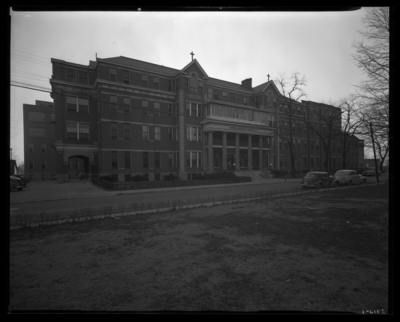 St. Joseph's Hospital, 544 West Second (2nd) Street; front                             exterior, Euphrasia Hall