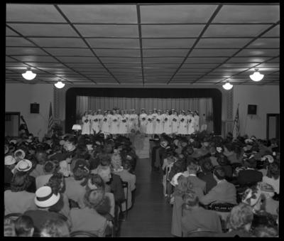 St. Joseph's Hospital, 544 West Second (2nd) Street;                             interior; graduating nurses; group portrait