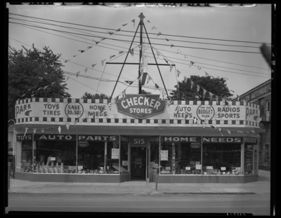 Checker Stores (automobile parts), 515 West Main;                             exterior