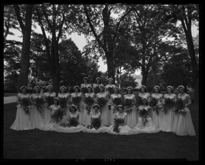 Cardome Academy; exterior; women graduates; group                             portrait