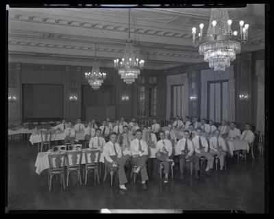 Alumni; Kentucky Military Institute (Lyndon, Kentucky); Lafayette                             Hotel; interior; group portrait