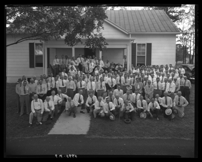 Showalter's Farm; exterior; Federal Reserve Bankers; group                             portrait