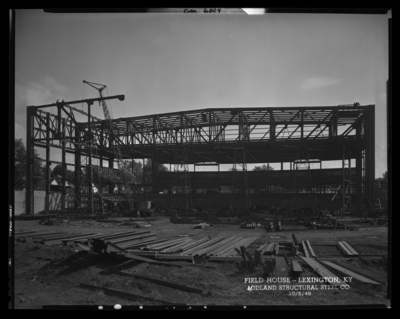 Field House; University of Kentucky; building; exterior; building                             under construction; photographs requested by Midland Structural Steel                             Companies