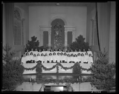Choristers; University of Kentucky; Memorial Hall; interior;                             group portrait