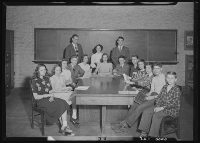 Garth High School (Georgetown, Kentucky); interior; group                             portrait
