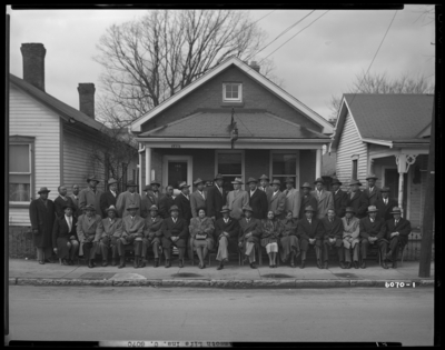 Mammoth Life Insurance Company, 149 Deweese; exterior; group                             portrait of a large gathering of African-Americans