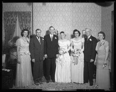 Swindler, Mr. & Mrs.; wedding; wedding party group                             portrait