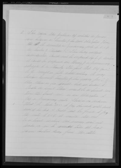 Prichard-Funk vote fraud case; writing copies (samples);                             University of Kentucky Law School examination book