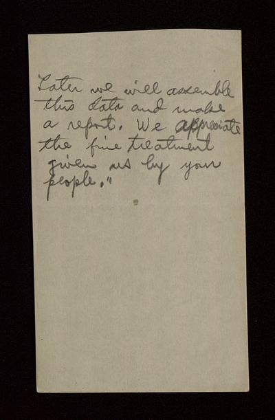 Handwritten notes