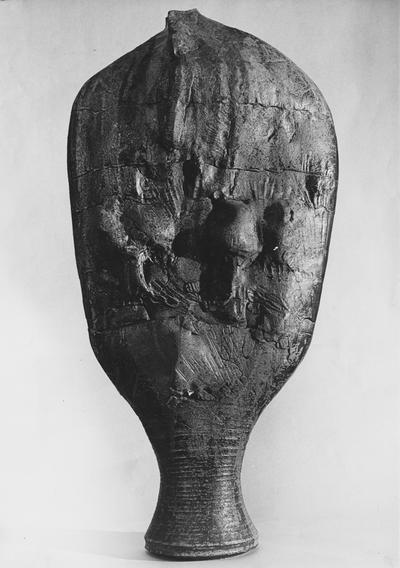A figure like ceramic sculpture by John Tuska