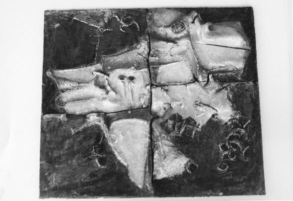 A ceramic tile by John Tuska