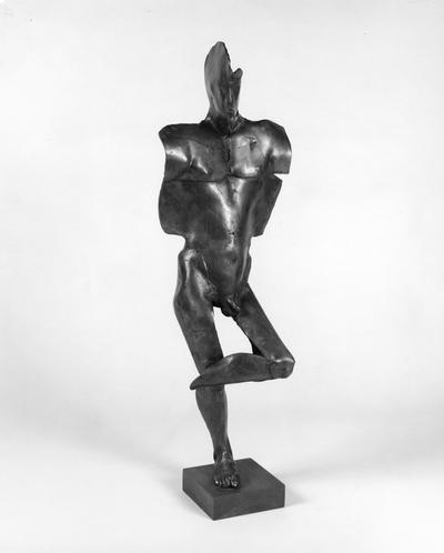 A bronze sculpture entitled