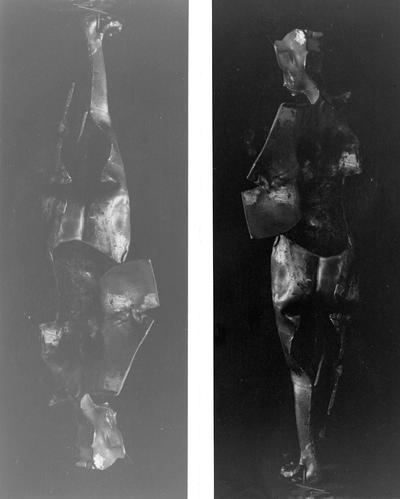 A bronze sculpture of a female nude entitled