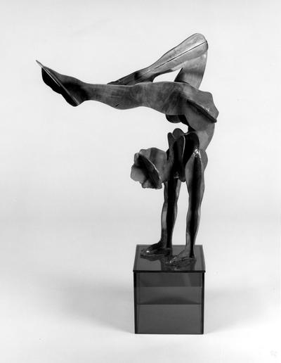 A corten steel figure sculpture entitled