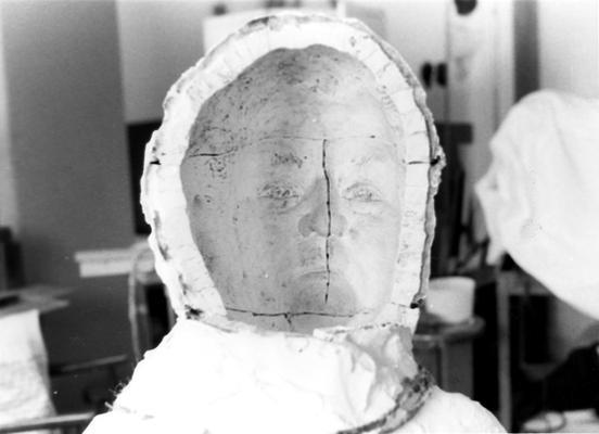 An image of a plaster mold of a John Sherman Cooper bust by John Tuska