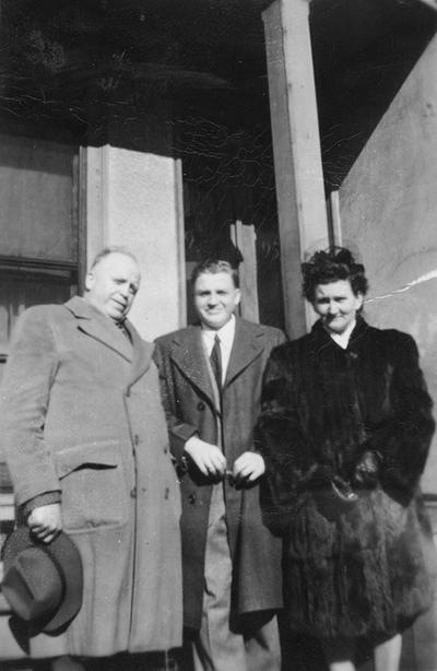 An image of John Tuska with his father Michael Tuska and mother Cecilia Tuska