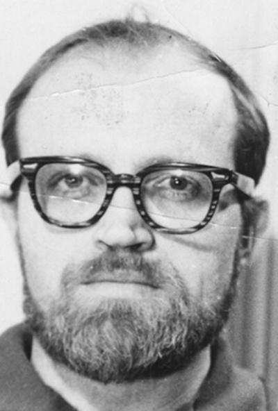 An image of John Tuska with a beard and glasses